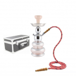MYA PICCOLO SILVER Hookah : Color:ROSE CLAIR, Size:T.U