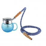 MYA COPPA Hookah : Color:BLEU CLAIR, Size:T.U