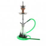 AMY 470 RIPS Hookah : Color:SILVER-GREEN, Size:T.U