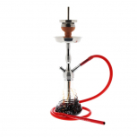 AMY 470 RIPS Hookah : Color:SILVER-RED, Size:T.U