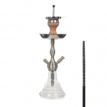 MS 490 CLICK Hookah : Color:CHROME/TRANSPARENT, Size:T.U