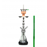 AMY 450 VOLCANO Hookah : Color:SILVER-GREEN, Size:T.U