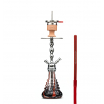 AMY 450 VOLCANO Hookah : Color:SILVER-RED, Size:T.U