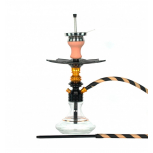 Ms Leão Hookah : Color:BLACK / GLOSS GOLD, Size:T.U