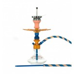 Ms Leão Hookah : Color:GOLD / OCEAN BLUE, Size:T.U