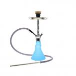 Mya Melina Hookah : Size:T.U, Color:CHROME/FROSTED BLUE