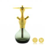 El-badia C1 Hookah : Color:SANDBLASTED GOLD, Size:T.U