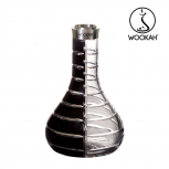 Wookah Bottle : Size:T.U, Color:STRIPED BLACK CLEAR