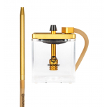 MS MICRO Hookah : Size:T.U, Color:CLEAR / GOLD