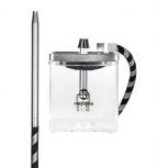 MS MICRO Hookah : Size:T.U, Color:CLEAR / SILVER