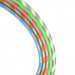 Striped Silicone Hose : Color:SILVER-PINK, Size:T.U