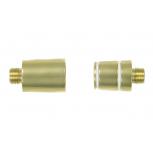 Adaptor for Steamulation glass stem : Size:T.U, Color:GOLD