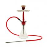 Mya Melina Hookah : Size:T.U, Color:RED CHROME / CLEAR