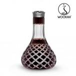 Vase Wookah Crystal Color Click : Size:T.U, Color:CHECK BROWN