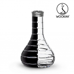 Vase Wookah Crystal Color Click : Size:T.U, Color:STRIPED BLACK CLEAR