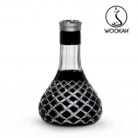 Vase Wookah Crystal Color Click : Size:T.U, Color:CHECK BLACK