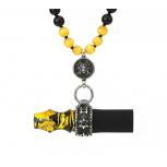 Embouts Japona Hookah Samurai Beads : Size:T.U, Color:YELLOW