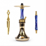 Chicha Ocean Hookah Kaif Small : Size:T.U, Color:GOLD BLUE