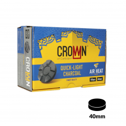 Charbons CARBOPOL CROWN 40mm boite de 100