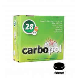 Carbones CARBOPOL 28mm caja de 100